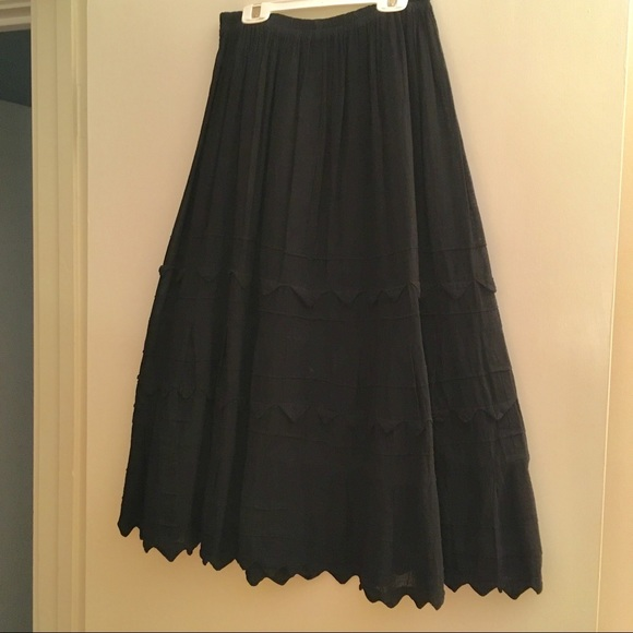 7021286a93a La Sirena El Interior Dresses   Skirts - Black cotton gauze skirt hecho en  Mexico